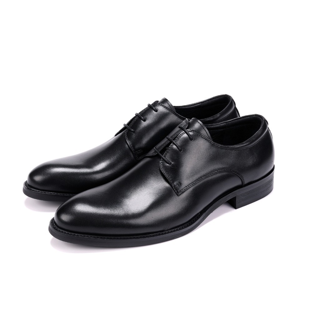 804a82c93b3 Fashion Derby Mens Dress Shoes Genuine Leather Business Shoes Male Formal  Wedding Groom
