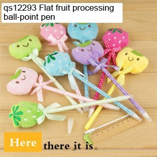 Wholesale Fruit pen Stationery Strange new Lovely  Ballpoint Pen Gift Kids Pens school promotion gift 50pcs/lot here QS11293