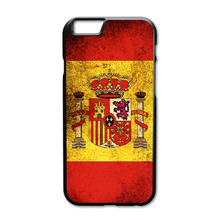 Spain Flag Case for iPhone 4 4S 5 5S 5C 6 6S Plus Touch 5 Samsung Galaxy S3 S4 S5 Mini S6 Edge Note 2 3 4  A3 A5 A7 E5 E7 Case