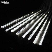 LED Christmas Xmas Lights 8pcs Set 50cm Snowfall Tube Meteor Shower Rain Tube LED String Light
