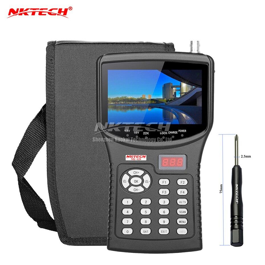 NKTECH HD Digital Satellite TV Signal Finder Meter NK-620 CCTV Camera Tester AHD TVI CVI Analog Video Monitor 4.3 TFT LCD MPEG4