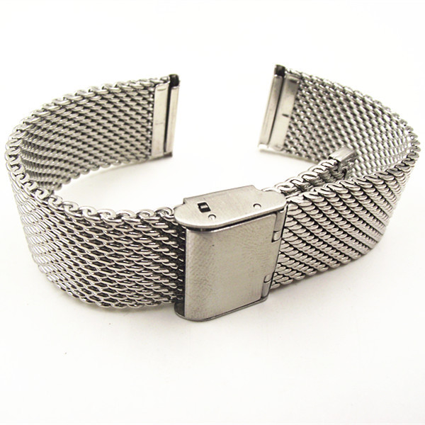 Wholesale High quality 10PCS lot 18MM 20MM 22MM Stainless Steel Watch band Watch strap Bracelets Strap