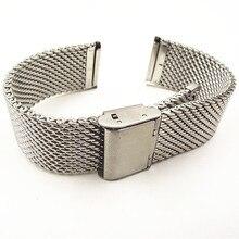 Hurtownie wysokiej jakości 10 sztuk/partia 18 MM, 20 MM, 22MM zegarek ze stali nierdzewnej zegarek z branzoletką pasek bransoletki pasek sliver color WBS001