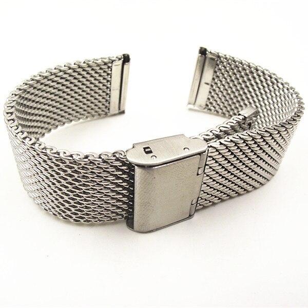 Wholesale High quality 10PCS/lot 18MM ,20MM ,22MM Stainless Steel  Watch band Watch strap Bracelets Strap sliver color WBS001bracelet  amuletbracelet packagingbracelet rondelle