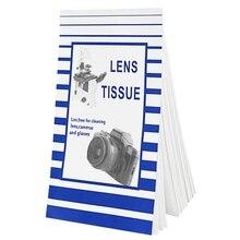 Folhas 50 Universal Camera Lens Suave Optics Tissue Papel De Limpeza Limpo Wipes Booklet Para Canon Sony Filtro de Lente Da Câmera de Vidro