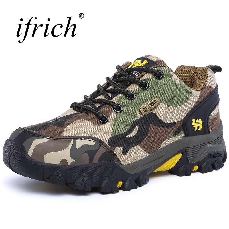 2017 New Hiking Shoes Men Outdoor Trekking Sneakers Couples Autumn Winter Mountain Boots Men Women Camo Climbing Shoes new arrival men s hiking shoes outdoor sports trainers silp on leather mountain trekking sneakers comfortable hunting boots men
