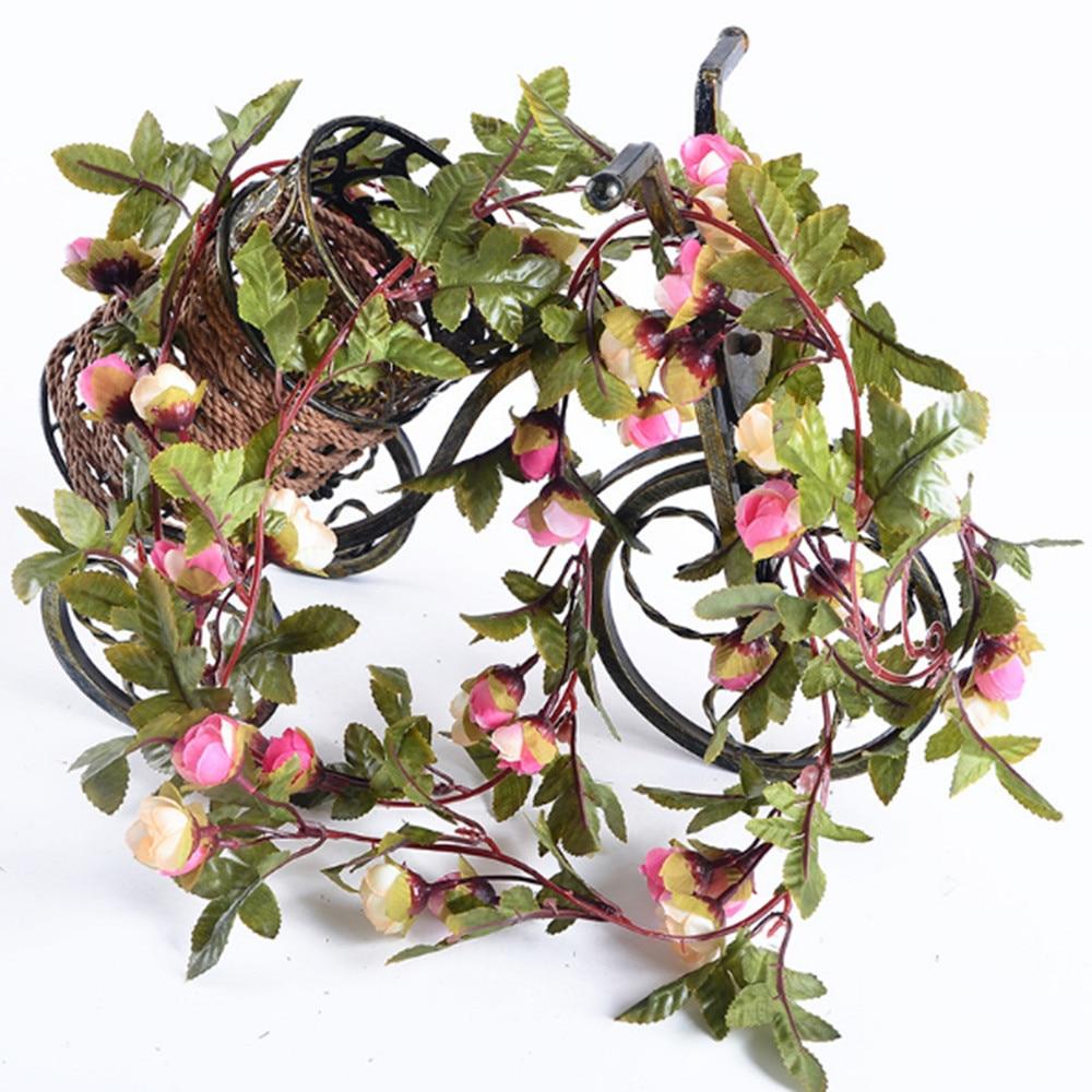 2.2M 25 LED różowy kwiat róży girlanda działa bateria Miedziana - Oświetlenie wakacje - Zdjęcie 5