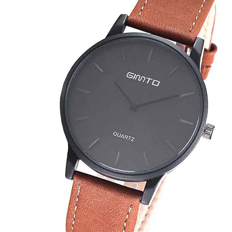 Gimto 102 wristwatch mens wrist watch man casual leather clock watch brand designer casual relogio masculino