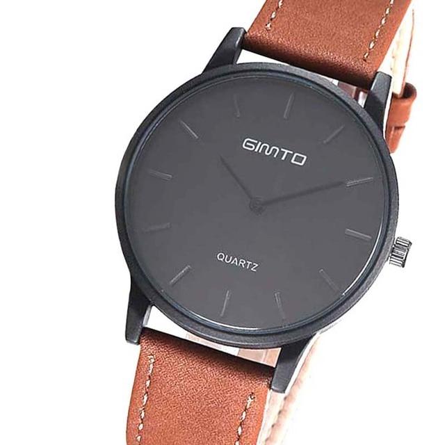 GIMTO 102 Wristwatch Mens Wrist Watch man Casual Leather Clock Watch Brand Designer Casual Relogio Masculino  Zegarek Meski