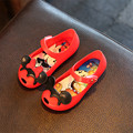 girls sandals cartoon Mickey Minnie Jelly shoes Non-slip Wear-Resistant summer children sandals breathable bows toddler shoes