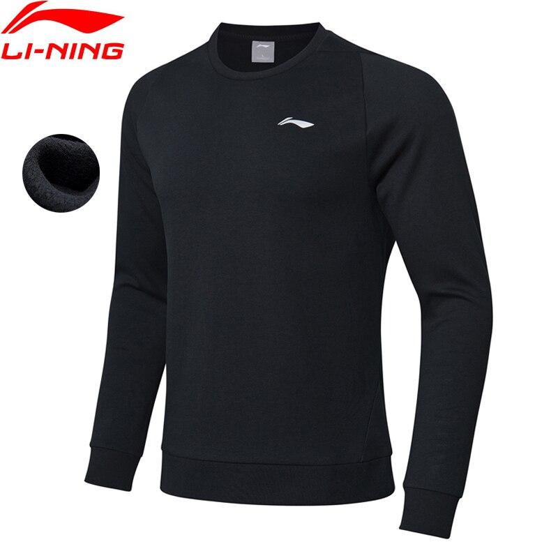 Li Ning Men Training Series Sports Hoodie Regular Fit Fleece Warm Cotton LiNing Comfort Sport Sweater