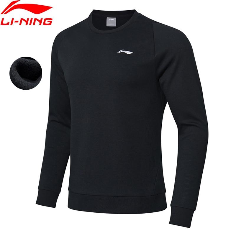 Li-ning Männer Training Serie Sport Hoodie Regelmäßige Fit Fleece Warme Baumwolle Futter Komfort Sport Pullover Awdn859 Reines Und Mildes Aroma Trainings- & Übungs-sweater