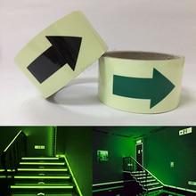 Купить с кэшбэком 50mmX3m glow in the dark tape lasting 4 hours Luminous film for safety