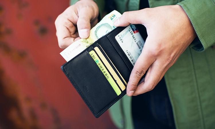 LANSPACE carteras de cuero para hombres Bolso de marca original con - Monederos y carteras - foto 2