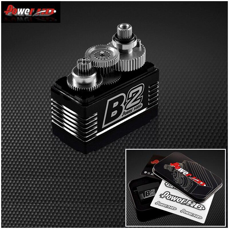 1 pcs Poder Original HD B2 35 kg 7.4 V Brushless Digital Servo com Metal Gears e Duplo Rolamentos