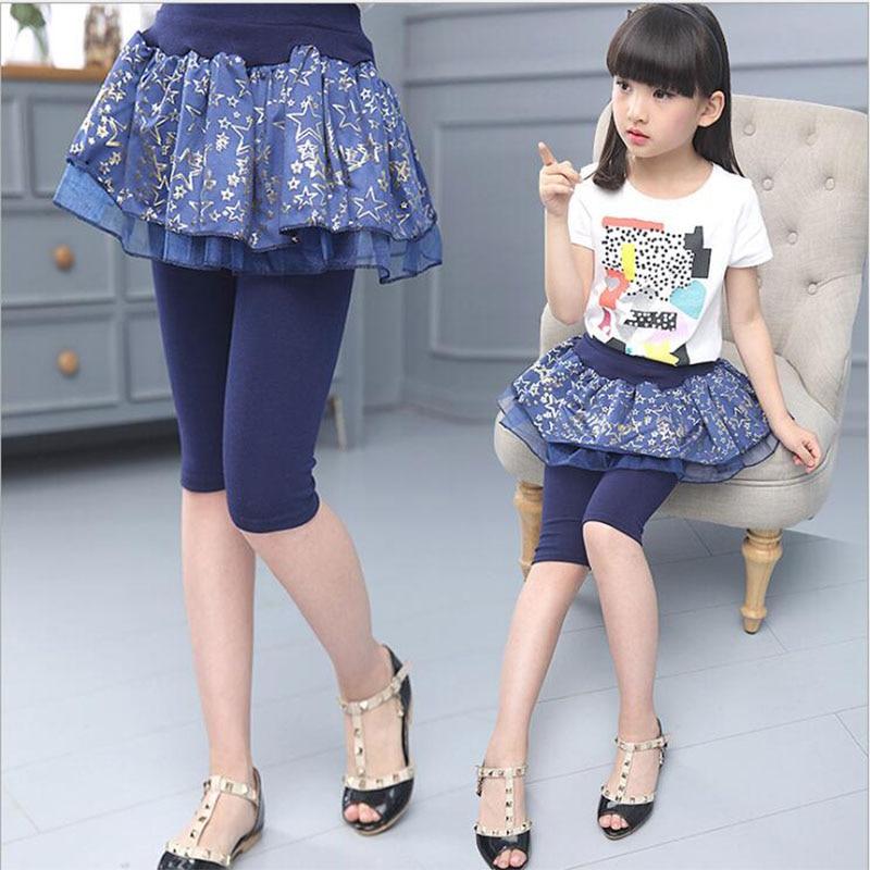 Spiring Legginsy Girls 2018 Fashion Elestic Talia Candy Kolor Skinny - Ubrania dziecięce - Zdjęcie 4