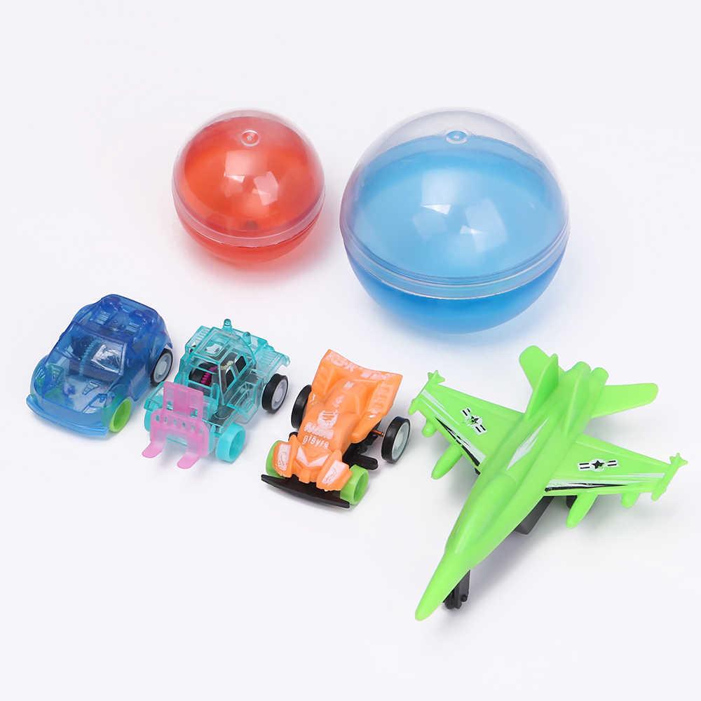 1PC Mini Cute Plastik Transparan Mobil Mainan Menarik Kembali Tehnik Kecil Model Mobil Mainan Anak-anak Hadiah Acak untuk Anak-anak hadiah Natal