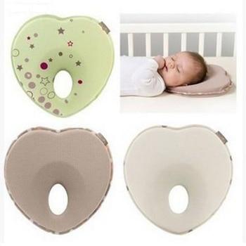 Cojín antivuelco cabeza plana de almohada protección del bebé almohada Infantil Niño...