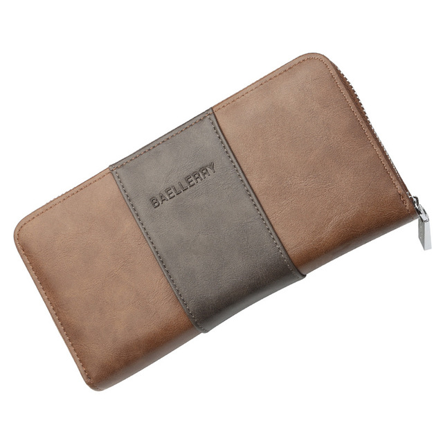 Large capacity card zipper wallet