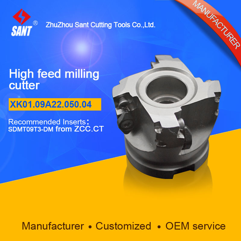 High feed milling cutter Indexable milling cutter insert SDMT09T3-DM disc XK01.09A22.050.04/XMR01-050-A22-SD09-04 Hot selling high precision milling tools high quality milling cutter emp02 050 a22 ap11 06