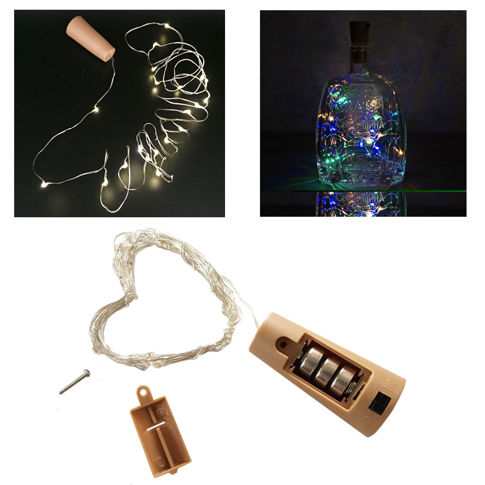 Copper String Light with Bottle Stopper 1m/2m Cork Shaped Wine Bottle Lights Decoration for Alloween Christmas Holiday Party цены онлайн