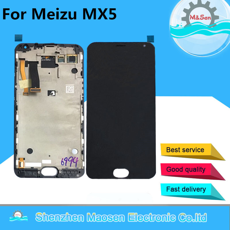 M Sen For 5 5 Meizu MX5 MX 5 LCD screen display touch panel digitizer with