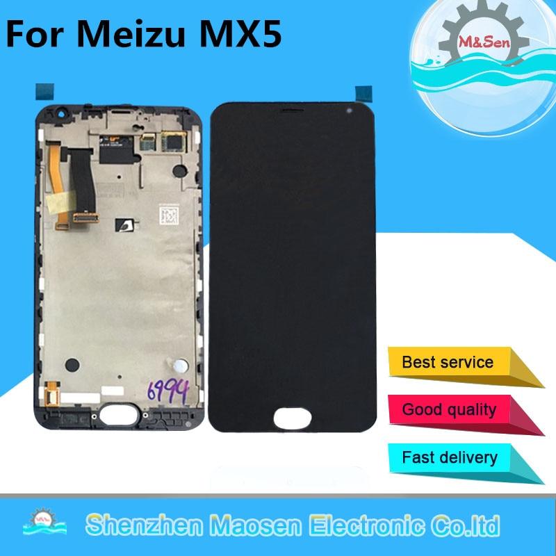 imágenes para M & Sen Para 5.5 ''Meizu MX MX5 5 pantalla LCD + touch panel digitalizador con marco blanco/negro envío gratis