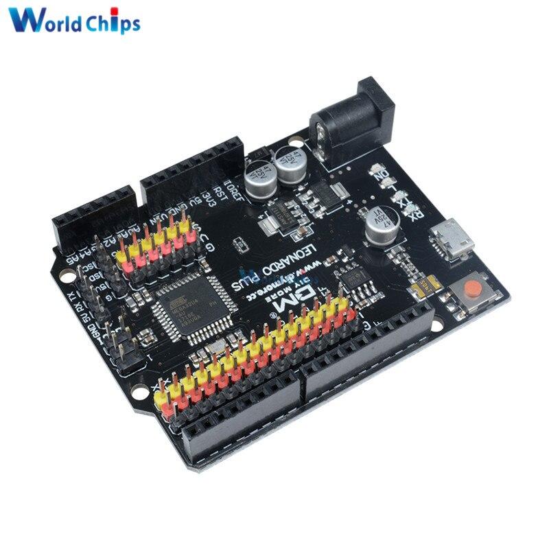 Dla Leonardo R3 Plus płyta CH340 CH340G ATmega32U4 ATmega32U4-AU moduł tablicy mikrokontrolera dla Arduino kompatybilny z kablem