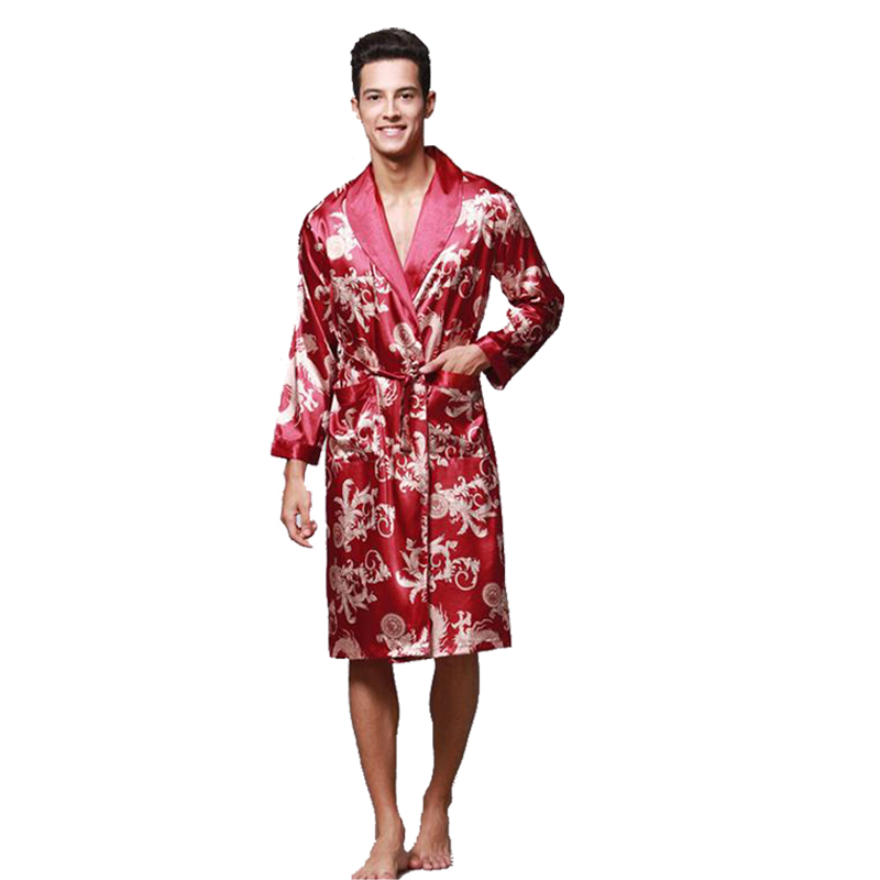 21fd2ce9c5 Real Sleeping Robes Male Genuine Silk Sleepwear Men Long Sleeve Bathrobe  Shorts. Add Cart.  25.13. DIDUQIPAO Men s Kimono ...