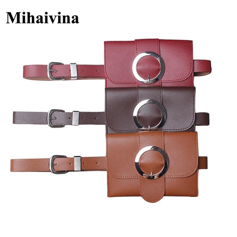 Mihaivina nya vintage damväska casual läder midja väska mode - Bälten väskor - Foto 1