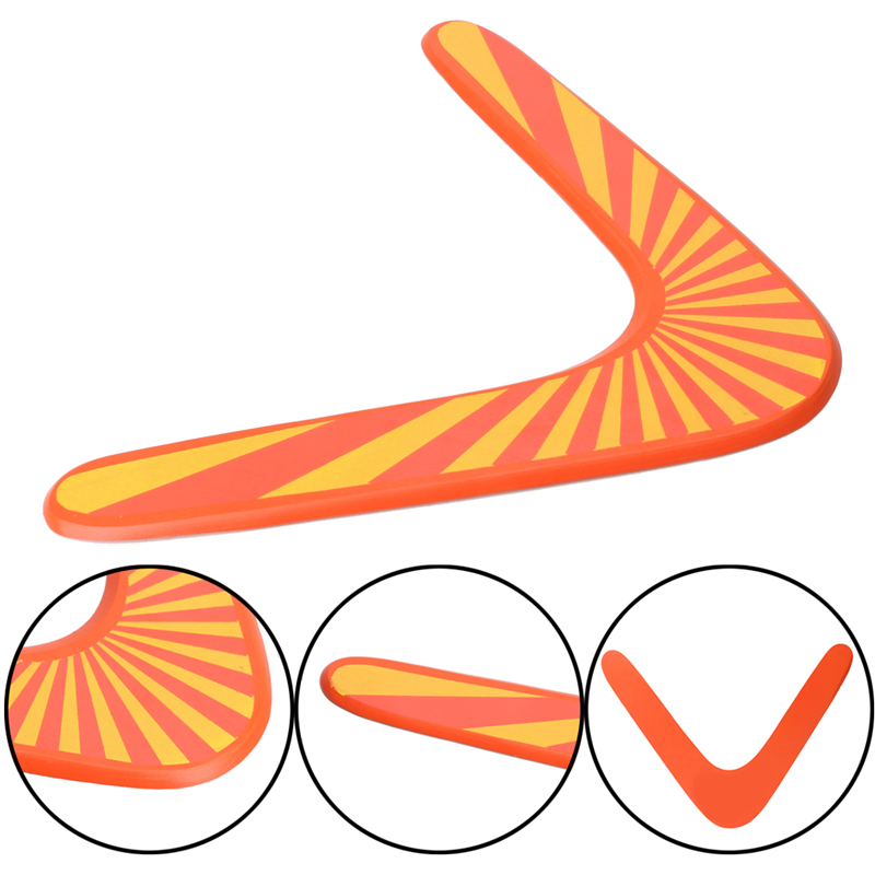 New-1PC-Throwback-V-Shaped-Boomerang-Wooden-Frisbee-Kids-Toy-Throw-Catch-Outdoor-Game-2