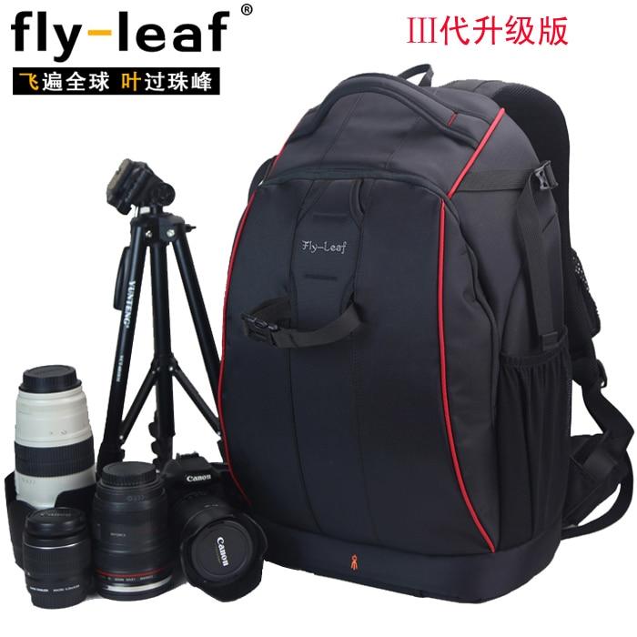 Hot sale FlyLeaf FL-326 anti-theft slr professional double-shoulder camera bag FL326 camera backpack big bag цены онлайн