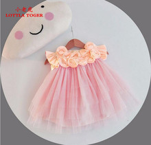 Cute Baby Girl Wedding Dresses 3D Stereoscopic Applique Infant Princess 1 Year Birthday Party Tulle Dress Christening Gowns