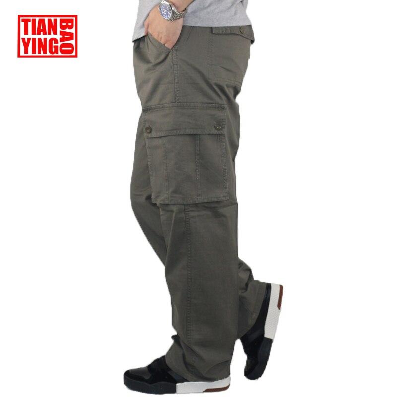 Mens Cargo Pants Pencil Harem Casual Baggy Pants Jogger Men Cotton Multi Pocket Boy Fitness Loose Stretch Work Overalls Trousers men s loose cotton straight barrel multi pocket casual wear pants