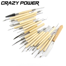CRAZY POWER Hand Tool Set 22 Pcs/set Graver Chip Detail Chisel Pottery Hobby Arts Engraving Carving Hand Tools Cutter Knives
