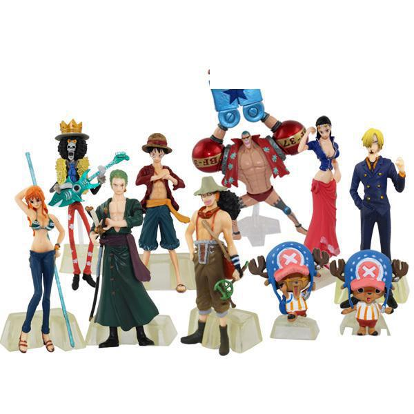 Free Shipping Animation model for one piece 2 years after straw hat full set of 10 models Action figure toys Doll one hundred years of poetry for children reissue
