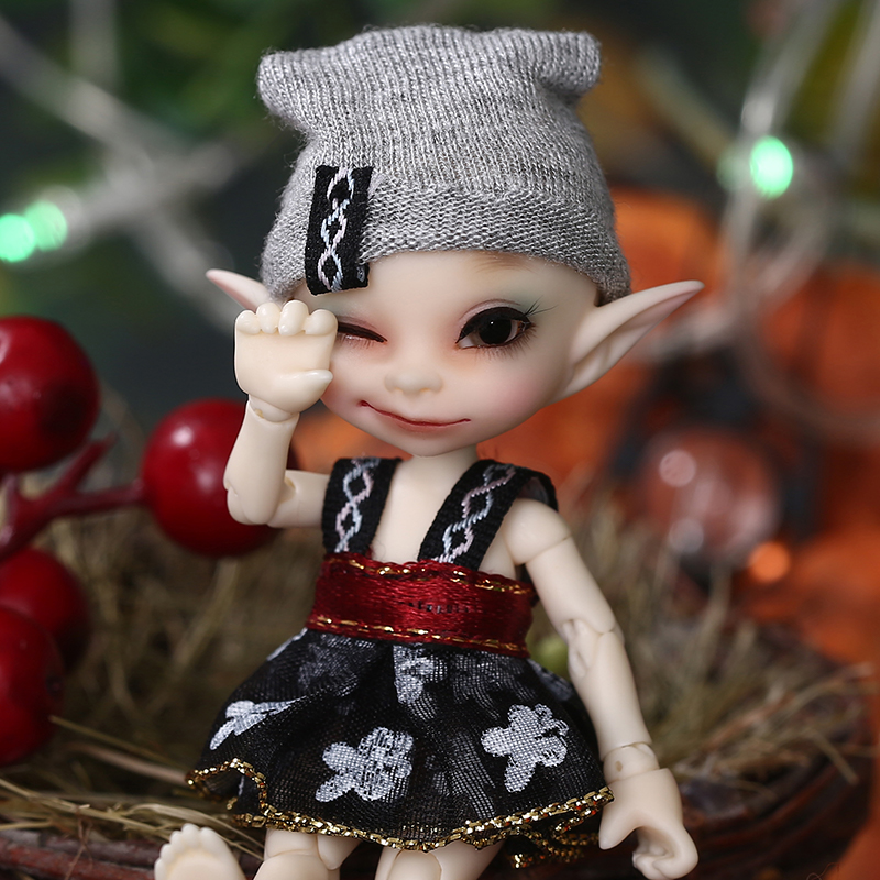 Realpuki Papilio FreeShipping Fairyland FL BJD Doll 1/13 Pink Smile Elves Toys for Girl Tiny Resin Jointed Doll