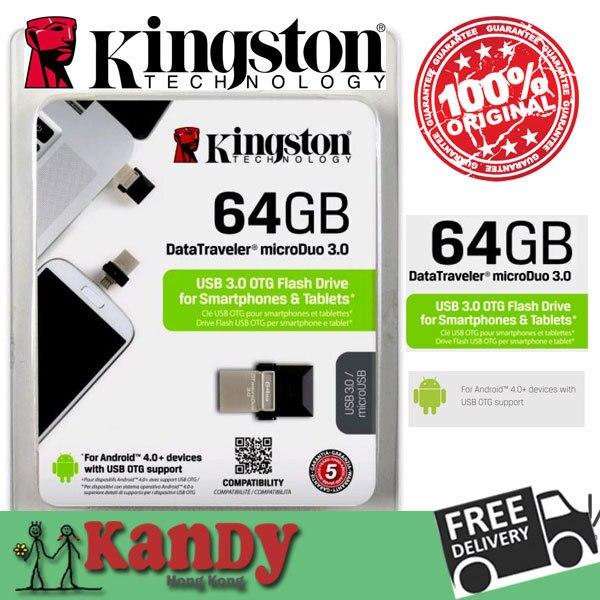 Кингстон usb 3.0 microUSB otg флэш-накопитель флэш-накопитель 16 ГБ 32 ГБ 64 ГБ смартфона пк стиц usb-палки мини chiavetta подарок memoria