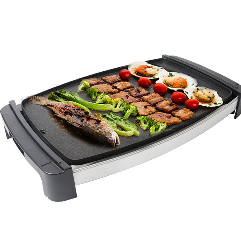 Electric Plat Pan Home Smoke-free Grill & Griddle Suitable for 3-6 People Multicooker Nonstick Baking Pot Waterproof Easy Clean