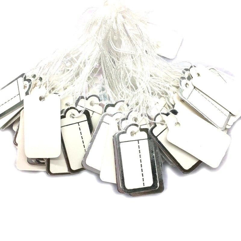 New 1000pcs 26*13mm Label Tie String Price Display Tags Luggage Wedding Note Diy Blank Hang Tag