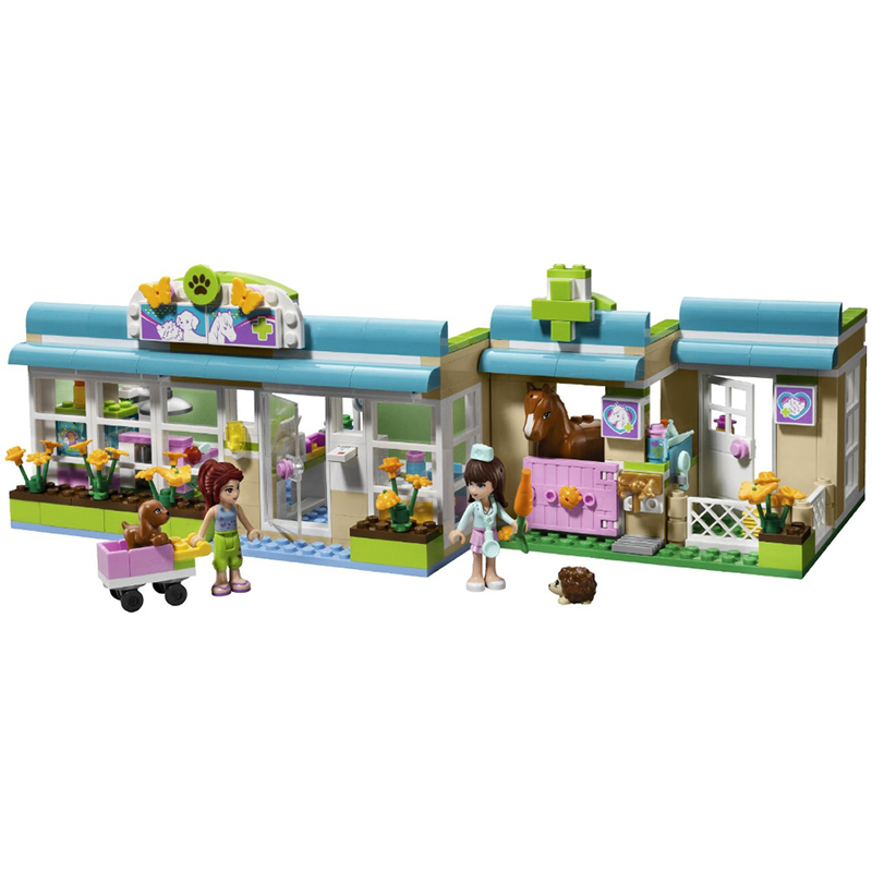 Friends Heartlake Pet Hospital Assemble Educational Learning Building Blocks Model Set Bricks Kids Toys for Girls BELA 10169 harmonious mind of the child