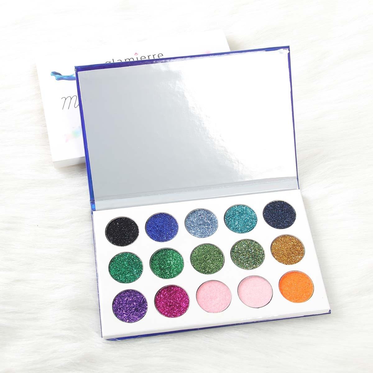 1 PC Classic Mermaid Eye Makeup Eye Shadow Sequins Shimmering Palette Eye Shadow 15 Color Durable Waterproof Shadow Cosmetics in Eye Shadow from Beauty Health