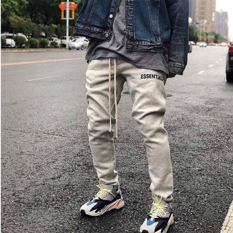 Meilleur Version la peur de dieu Polaire pantalons de Survêtement Lettre Imprimé Jogger Pantalon Coton Cordon Justin Bieber Pantalon de Survêtement