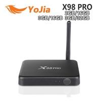 2GB 3GB 16GB 32GB X98 PRO Metal Box Amlogic S912 Android 6 0 TV Box Octa