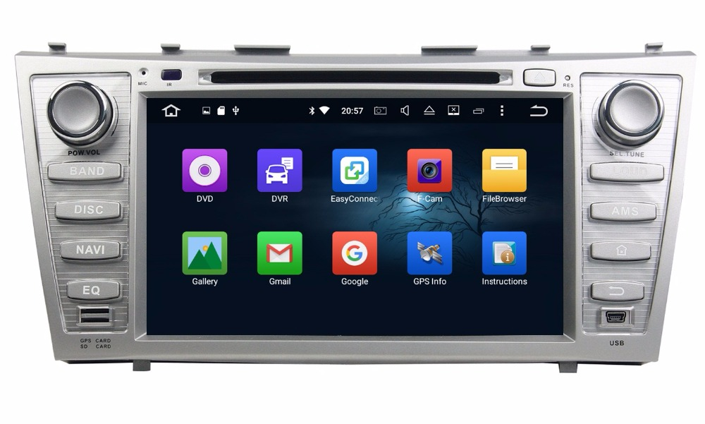 4GB RAM Octa Core 8 Android 6.0 Car Audio DVD Player for Toyota Camry 2007-2011 With Radio GPS 4G WIFI Bluetooth USB DVR OBD