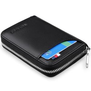 Image 5 - WilliamPOLO 2019 Mens Wallet Accordion Credit Card Holder Genuine Leather Multi Card Case Organizer Coin Purse Short Zip Around