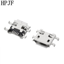 10Pcs Micro USB 5pin B type Female Connector For Mobile Phone Micro USB Jack Connector 5 pin Charging Socket 10pcs micro usb 2 0 connector b type 5pin smt female receptacle right angle tail smt reflow solderable locators rohs new