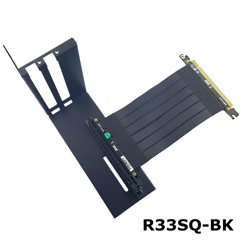 R33SQ-BK Graphics Card Bracket Extension Cable Riser Fixed Vertical ATX Case Pci-e 16x X16 Internal Brackets Holder Stent Stand
