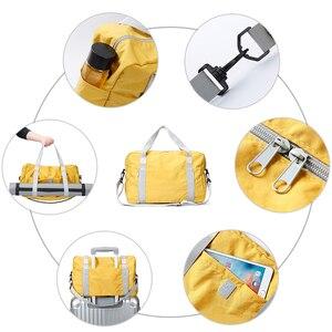Image 3 - Sacchetto di Spalla di viaggi, di Grandi Dimensioni Pieghevole di Campeggio di Viaggio di Sport Palestra Duffle Bag, Portatile Leggero Sacchetto di Immagazzinaggio del Sacchetto Dei Bagagli Impermeabile