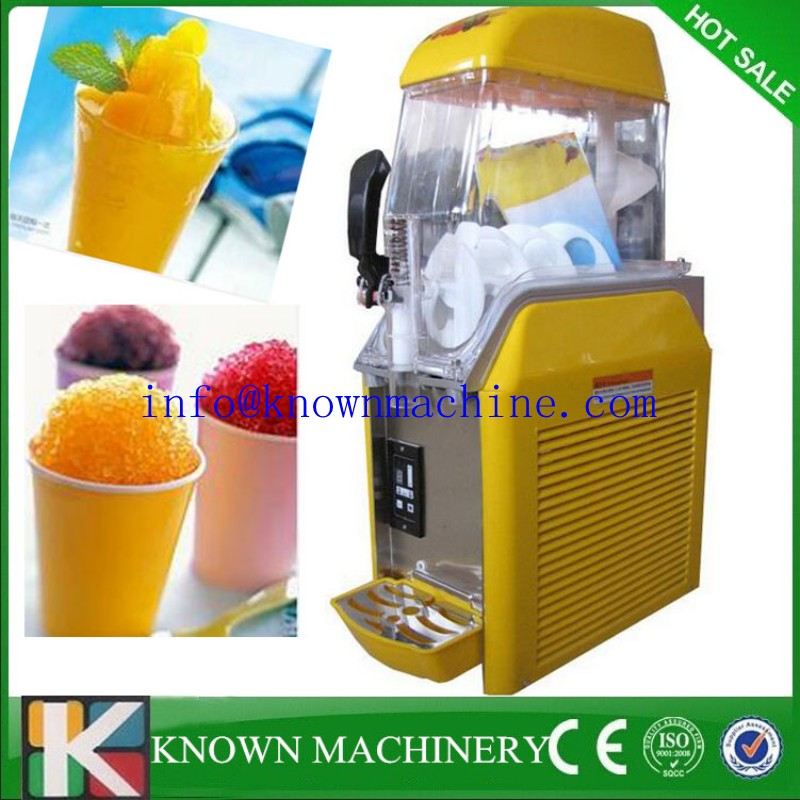 single tank 12 l slush machine slushy maker slush ice making machine for free shipping - Slushie Machines
